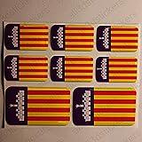 Pegatinas Mallorca España Resina, 8 x Pegatinas Relieve 3D Bandera Mallorca España Adhesivo Vinilo