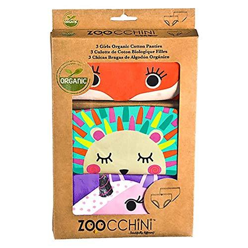 Zoocchini Set Mutandine Bimba - Cotone bio Pacco 3 Mutandine