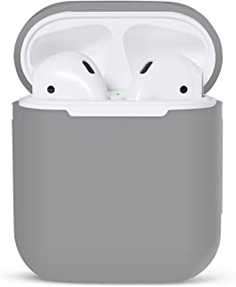 iMusk Airpods Silicone Carrying Case Protective Cover Skin Sleeve Pouch Box for Apple Airpods Air Ear Pods Buds Standard Charging Case Earphone Headphone Accessories