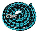PRORIDER 10 ft Horse Halter Lead Rope Heavy Duty 3/4' Diameter Panic Snap Teal 60523