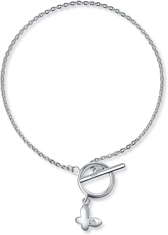 Palpitate Butterfly Bracelet Sterling Silver Bracelets for Women