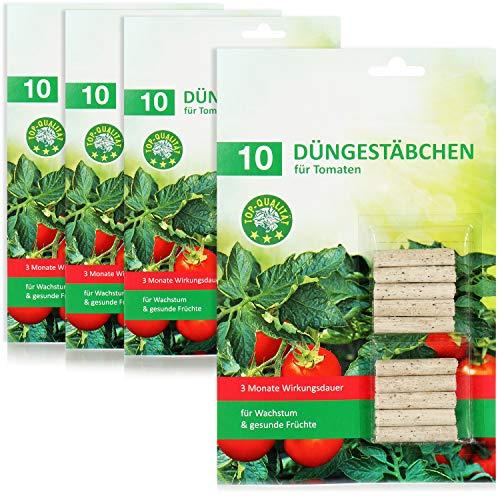 com-four® 40x Bastoncini di Fertilizzante per pomodori, Fertilizzante bilanciato per pomodori con Una Lunga Durata d'azione per Raccolti elevati e Frutti gustosi