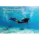 tauchza Uber · DIN A3· Premium Calendario 2019· Bajo el agua · bucear · peces · Mar · Set de regalo con 1tarjeta de felicitación y 1Tarjeta de Navidad (· Edition Alma mágica