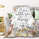 Bible Verse - I Am with You Always Fleece Throw Blanket Lightweight Super Soft Flannel Bed Blanket Perfect Home Decor for Couch Chair Sofa Living Room 60'X50' Medium