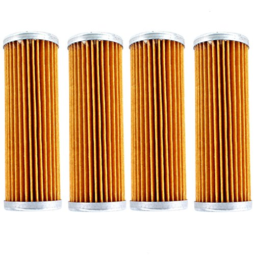 AISEN Pack of 4 Fuel Filter for KUBOTA 15231-43560 G4200 G5200 G6200 B1550 B1550HST B20 B1500 1T021-43560