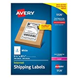 Avery 5126 Shipping Address Labels, Laser Printers, 200 Labels, Half Sheet Labels, Permane...