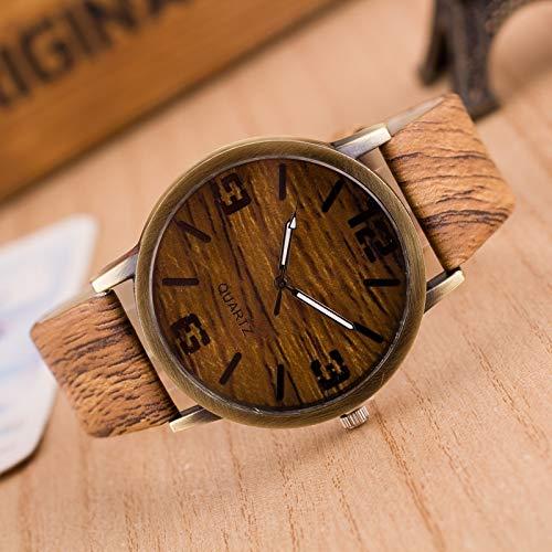 YGMOTO SVA AYSMG Pack de 4 Relojes de imitación de Madera de Cuatro dígitos for Hombres y Mujeres (Color : Color1)