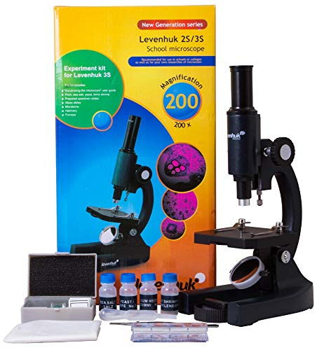 Levenhuk 3S NG Classic Metal Microscope in a Colorful Box with Accessories