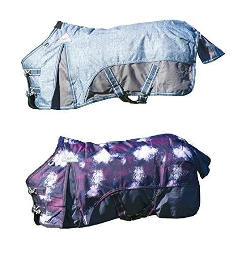 netproshop Falabella Turnout-Decke mit Schweiflatz 200 g Füllung, Groesse:70, Farbe:Universe