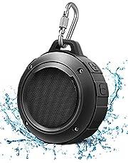 LENRUE Cassa Bluetooth Doccia, Altoparlante IPX5 Impermeabile Portatili Senza fili con Stereo HD, 8Ore di Riproduzione, Microfono, Moschettone, Ventosa, per Esterni, Bike, Spiaggia, Piscina (Nero)