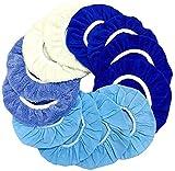 IOSUA 9 to 10 Inch Polishing Bonnets, 12Packs 10 inch Buffer Pads, Polishing Pads Car Buffer Pad Car Wax Cover Kit - 4 Microfiber 2 Coral Fleece 2 Wool 4 Non-Woven, for Orbital Buffer Polisher