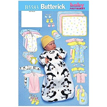 McCalls Baby Easy Sewing Pattern 6478 Bibs /& Burp Cloths McCalls-6478-OSZ
