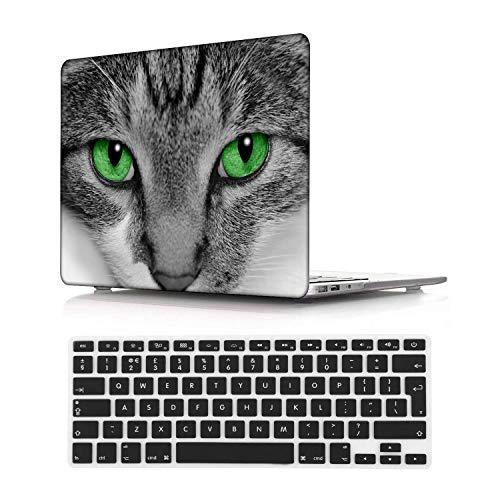 NEWCENT MacBook Pro 15' Funda,Plástico Ultra Delgado Ligero Cáscara Cubierta EU Teclado Cubierta para MacBook Pro 15 Pulgadas con Touch Bar Touch ID 2016-2018 Versión(Modelo:A1707/A1990),Animal 44