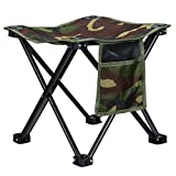 Folding Stool Fishing Stool Portable Camping Stool Portable Stool Telescopic Stool Camping Folding Stool for Travel Hiking Gardening Picnic Beach BBQ Outdoor Activities
