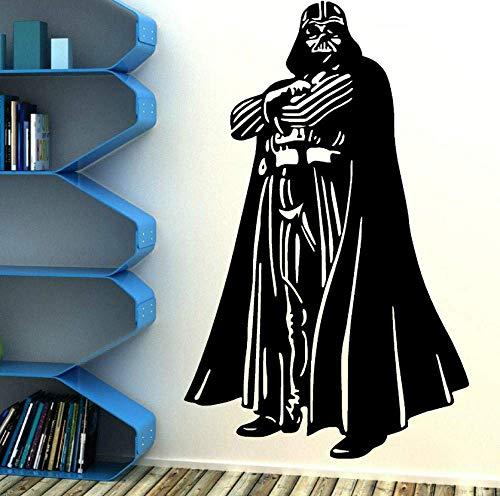 Wandaufkleber Darth Vader Vinyl Wandkunst Aufkleber Zimmer Schlafzimmer Film Aufkleber Wohnkultur Tapete Wandbild 90X57 Cm
