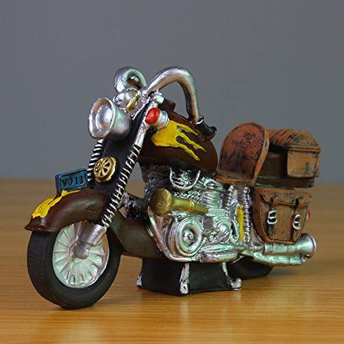 ULDQ Esculturas Decoración del Hogar Escultura Decoración Estatuas Figuritas Modelo De Motocicleta Hucha Regalo Caja De Dinero Adorno De Escritorio Decoración del Hogar Craf-C_As_Shown