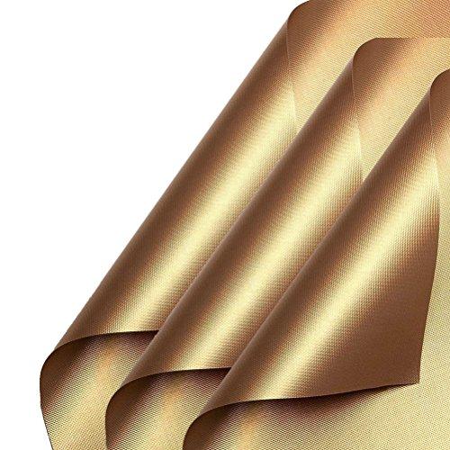 BESTOMZ BBQ Grillmatte für Gasgrill, 3 Stück Wiederverwendbarer Antihaft Grill und Backmatte für Kohle, Gas und Weber Style Grills,33 * 40 cm