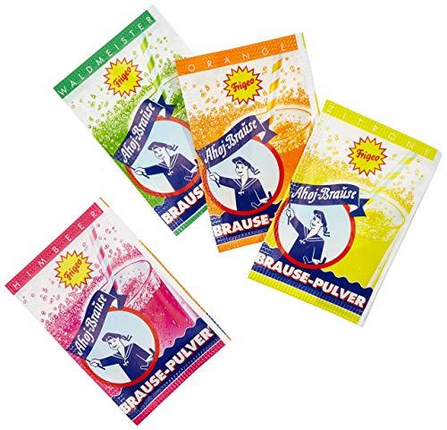 Ahoj-Brause Pulver für ein herrlich prickel-frisches Getränk zum Trinken - 4 verschiedene Geschmacksrichtungen Kultbrause: Himbeere, Orange, Zitrone oder Waldmeister - 580g Eimer
