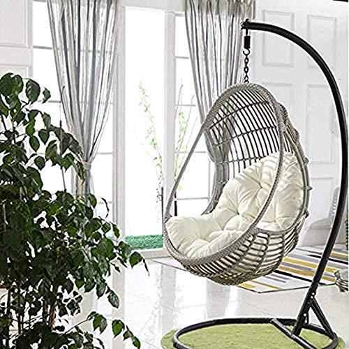 ABTSICA Garden Terrace Rattan Swing Chair Wicker Egg Hanging Chair Hammock Hanging Chair Large Size...