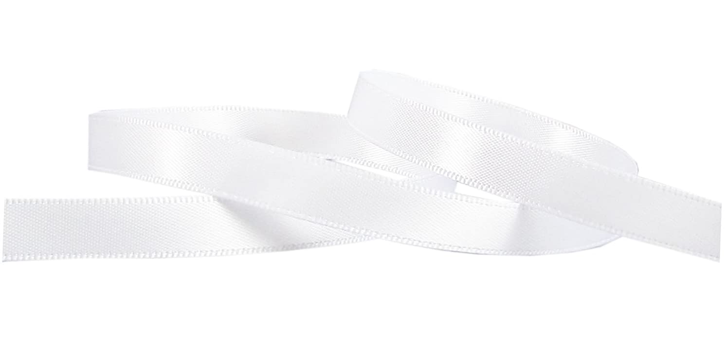 Q-YO Double Face Satin Ribbon for Crafts Gift Package Wrapping, Hair Bow Clip Accessories Making, Crafting, Wedding Decor. (100yd-3/8