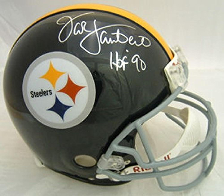 Jack Lambert Autographed Pittsburgh Steelers Replica Helmet Grey Mask HOF JSA