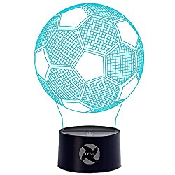 A Blue Sport Soccer Football 3D Optical Illusion Lamp