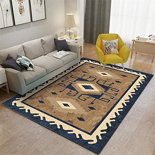 RUGMRZ Carpets For Living Room Sale brown Living room carpet classic geometric pattern durable carpet anti-mite Outdoor Garden Rug 200X300CM Rug Kids 6ft 6.7''X9ft 10.1''