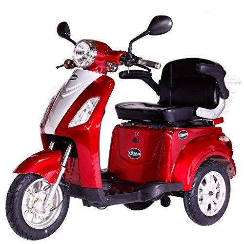 Rolektro E-Trike 25 Rot Elektroroller 600W 25 km/h RW 50km Dreirad EU Zulassung