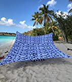 Neso Tents Grande Beach Tent, 7ft Tall, 9 x 9ft, Reinforced Corners and Cooler Pocket (Shibori)