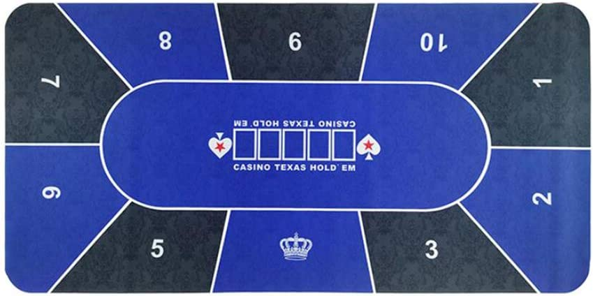 Texas Selling rankings Super-cheap Hold'em Rubber Table Mat Poker T Tablecloth Non-Slip Game