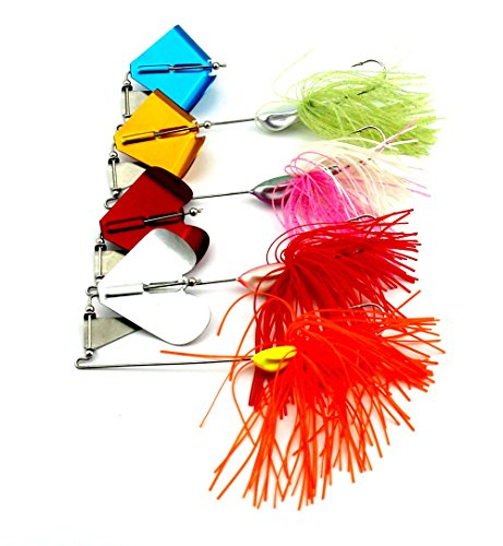 4pac Mixed Wonderfull Colors Fishing Hard Spinner Baits Lures Kit