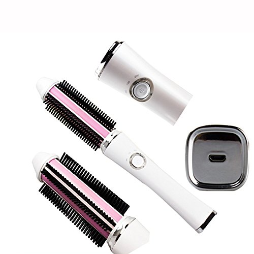 kabellos USB-Aufladung Gelockter Haarkamm Verletzte das Haar nicht Multifunktion Anti-Heiß Elektrische Haarstöcke