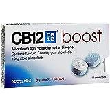 CB12 Boost Strong Mint Gomme da Masticare per Prevenire l'Alito Cattivo e Migliorare l'Igiene Orale,10 Chewing Gum - 20 Gr