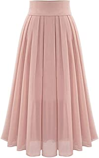 6d1808a7d Drizzle Bohemian Skirt High Waist Women Tulle Dresses Chiffon Pleated Skirt  Long