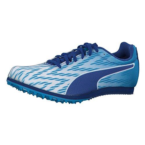 PUMA Evospeed Star 5.1 Low Boot Sneaker Sportschuhe Weiss-Blau Danube-Blau, tamaño:34.5