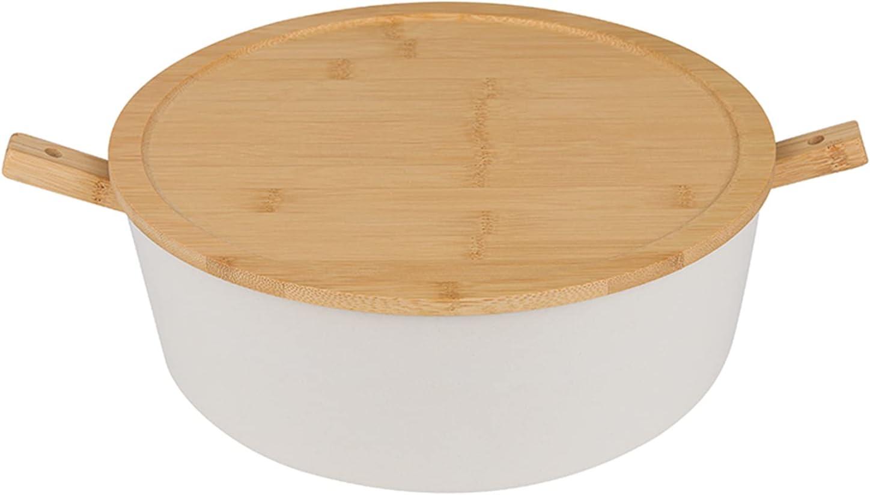 LOVYANXUE Bamboo Fiber Salad 5 ☆ popular Bowl Fees free!! Large Servers 11inche Set with