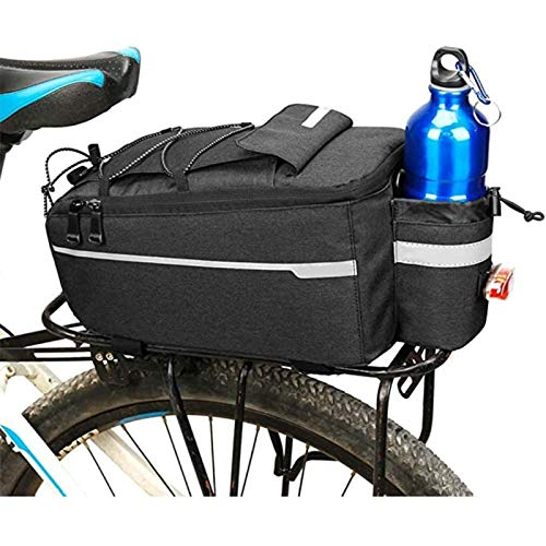 XIAOBUSHI Bicycle carrier bag, bicycle bag for hot and cold items, insulated trunk cooling bag, after luggage storage, anti-glory mountain bike back bag riding equipment camel bag accessories