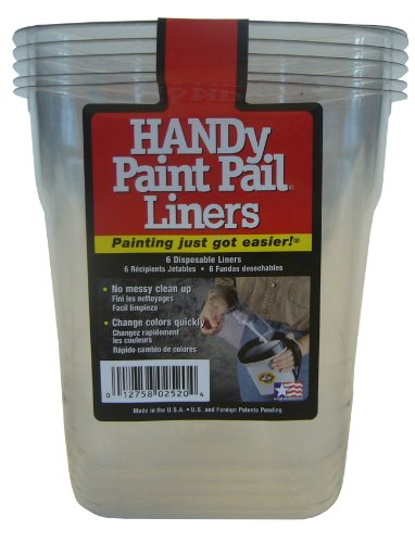 Handy 3655-0440 Paint Pail Liners, Pack of 6