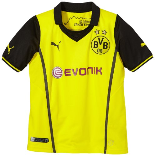 PUMA Kinder BVB UEFA Champions League Trikot 2013/14, blazing yellow-black, 164, 743562 01