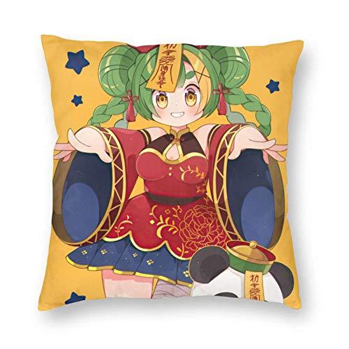 WH-CLA Cushion Cover Anime Girl Home Decorativo Cuadrado Ropa De Cama Duradero Personalizado 45X45Cm Regalo Oficina Coche Funda De Almohada Sofá Cómodo Cama Fundas De Almoha
