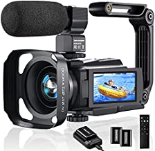 4K Video Camera Camcorder, 48MP 60FPS YouTube Camera WiFi IR Night Version Vlogging Camera 3.0 Inch Touch Screen 16X Zoom Digital Video Camera Recorder with Microphone, 2.4G Remote, Battery Charger