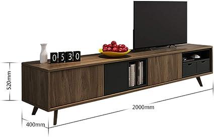 PQXOER-HO Mueble TV Simple Mueble de la Sala de TV Piso del gabinete de televisión de la Consola Armarios (Color : Amarillo, tamaño : 200x40x52cm): Amazon.es: Hogar