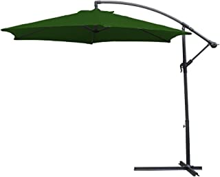 HG® 3.5m Sombrilla de Terraza protección UV Para terraza jardín Exterior con Manivela Parasol Verde