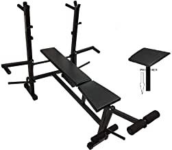 Produman 8 in 1 Home Gym Equipment of 8 in 1 Bench for Muscle Exercise and Preacher for Exercise