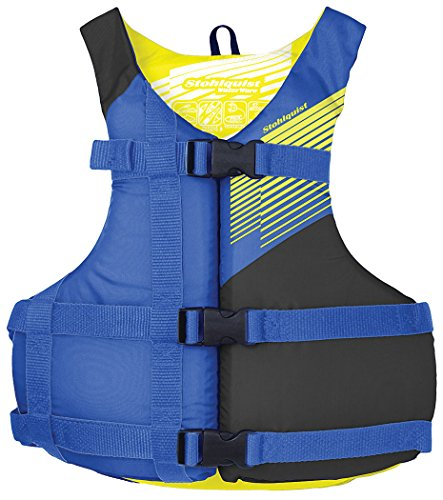 Stohlquist Waterware Fit Youth Life Jacket/Personal Flotation Device, Youth 50-90 lbs, Blue/Black