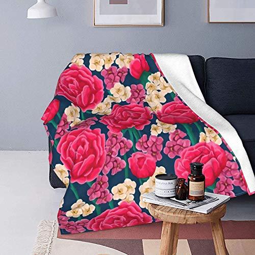Rosa rote Rose Textur Bett Decke...