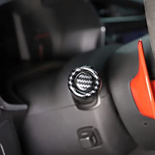 Korlot Carbon Fiber Light Wiper Lever knob Trim on Both Sides for Corvette C7 2014-2019 Interior Accessories
