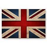 Amanda Walter Inglaterra Gran Bretaña Alfombrilla de Fieltro Duradera, Alfombrilla de Respaldo de Goma para Interiores al Aire Libre, Bandera británica Patriot Inglés Estilo Grunge