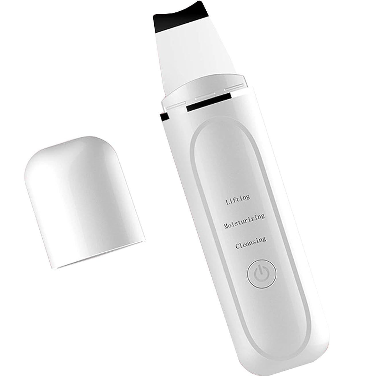 みかMIKA ウォーターピーリング 超音波ピーリング 超音波美顔器 美顔機 イオン美容 イオン導出?イオン導入 USB充電 黒ずみ 汚れ除去 ニキビ フェースケア 多機能