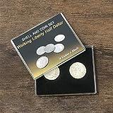 Doowops Walking Liberty Half Dollar Shell and Coin Set (4 Coins 1 Shell) Magic Tricks Coin Appear/Vanish Magic